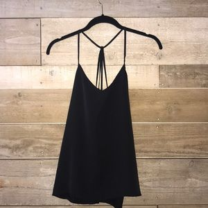 Abercrombie & Fitch Black strappy silky dress tank